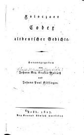 Koloczaer codex altdeutscher gedichte