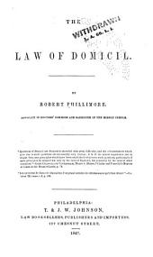 The Law of Domicil