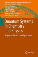 Quantum Systems in Chemistry and Physics PDF