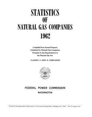 Statistics for Interstate Natural Gas Pipeline Companies PDF