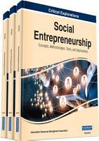 Social Entrepreneurship  Concepts  Methodologies  Tools  and Applications PDF