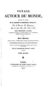 Voyage autour du monde ... sur la corvette Le Séniavine ... 1826,1827,1828 et 1829, tr. par F. Boyé. 3 tom. avec un atlas
