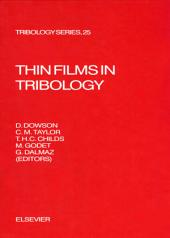 Thin Films in Tribology