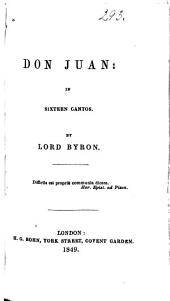 Don Juan: In Sixteen Cantos