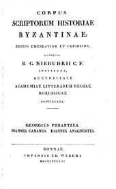 Corpus scriptorum historiae byzantinae: Volume 36