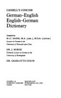 Cassell s German Dictionary PDF
