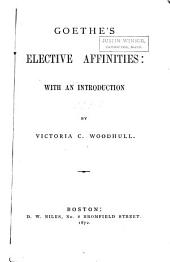 Goethe's Elective Affinities