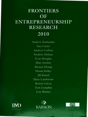 Frontiers of Entrepreneurship Research PDF