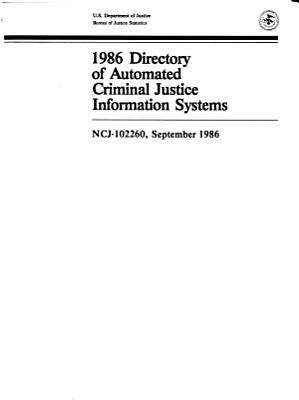 Directory of Automated Criminal Justice Information Systems PDF