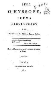 O hyssope: poéma heroico-comico