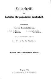 Zeitschrift der Deutschen Morgenländischen Gesellschaft: Band 47