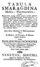 Tabula smaragdina medico-pharmaceutica: in qua sexcentorum contra omnis morbos probatissimorum ...