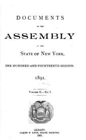 Documents of the Assembly of the State of New York: Volume 2