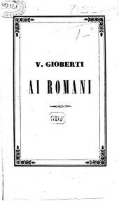 V. G. ai Romani. [A political discourse.]