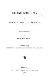 Kleine schriften von Alfred von Gutschmid: bd. Schriften zur griechischen geschichte und literatur. 1893