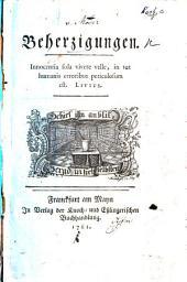 Beherzigungen. [By Friedrich Carl von Moser.]