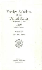 Foreign Relations of the United States Book