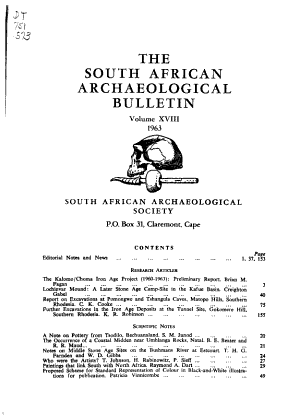 The South African Archaeological Bulletin