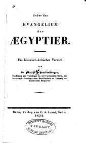 Über das Evangelium der Aegyptier: ein historisch-kritischer Versuch