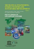 MECHANICAL ENGINEERING  ENERGY SYSTEMS AND SUSTAINABLE DEVELOPMENT  Volume I PDF
