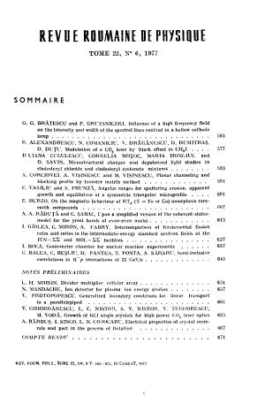 Revue Roumaine de Physique PDF