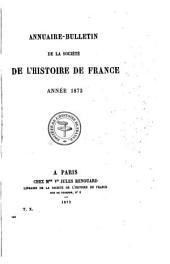 Annuaire-bulletin de la Société de l'histoire de France