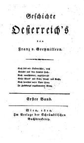 Geschichte Oesterreich's