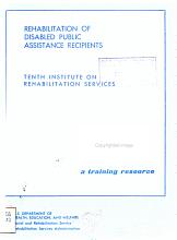 Rehabilitation of Disabled Public Assistance Recipients PDF