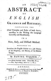 An Abstract of English Grammar and Rhetoric, etc