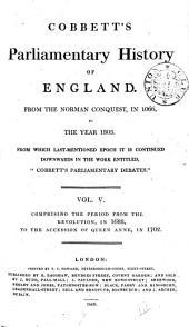 Cobbett's Parliamentary History of England: Volume 5