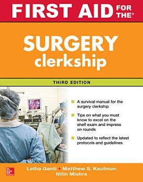 First Aid for the Surgery Clerkship  Third Edition PDF