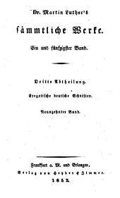 Sämtliche Werke: Volumes 51-52