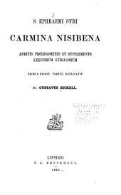 S. Ephraemi Syri Carmina Nisibena: additis prolegomenis et supplemento lexicorum Syriacorum
