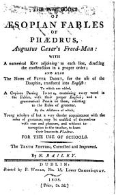 Five books of Aesopian fables of Phaedrus