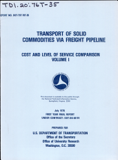 Transport of Solid Commodities Via Freight Pipeline PDF
