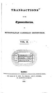 Transactions of the Cymmrodorion, Or, Metropolitan Cambrian Institution: Volume 2, Parts 3-4