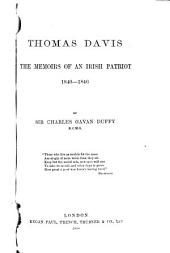 Thomas Davis: The Memoirs of an Irish Patriot, 1840-1846