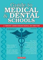 Guide to Medical and Dental Schools PDF