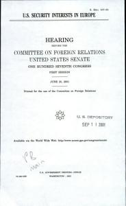 U S  Security Interests in Europe PDF