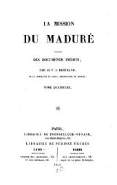 La mission du maduré: d'après des documents inédits, Volume 4