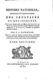 Histoire naturelle, générale et particulière des crustacés et des insectes: Volume9