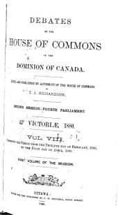 Official Report of the Debates of the House of Commons of the Dominion of Canada: Part 1
