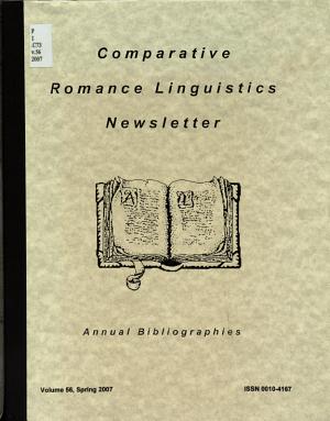 Comparative Romance Linguistics Newsletter PDF
