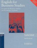 English for Business Studies Teacher's Book