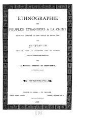 Ethnographie des peuples étrangers à la Chine: ouvrage composé au XIIIe siècle de notre ère, Volume2