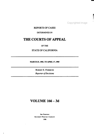 Reports of cases determined in the Courts of Appeal of the state of California  3d series