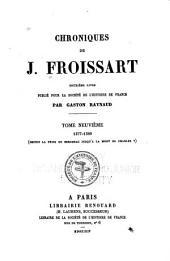 Chroniques de J. Froissart: Volume9
