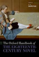 The Oxford Handbook of the Eighteenth Century Novel PDF