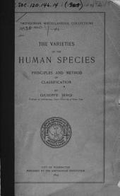 The Varieties of the Human Species: Principles and Method of Classification, Volume 38, Issue 1