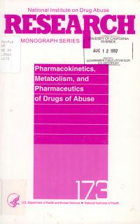 Pharmacokinetics  Metabolism  and Pharmaceutics of Drugs of Abuse PDF